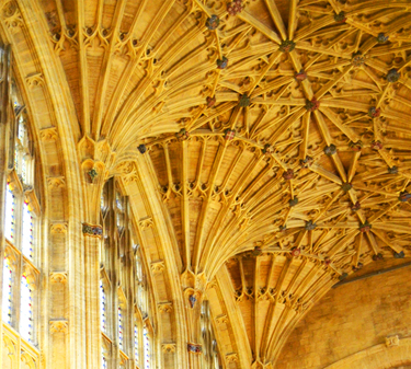 Sherborne Abbey - nave fan vaulting - detail 2.jpg